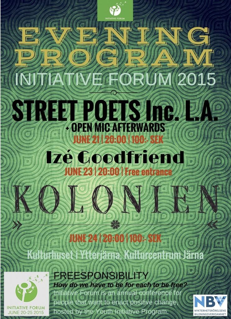 Poster Evening program